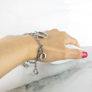 STEELX Stainless Steel Oval Charm Bracelet